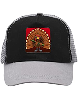 Unisex Turkey Warrior Trucker Hat Adjustable Mesh Cap