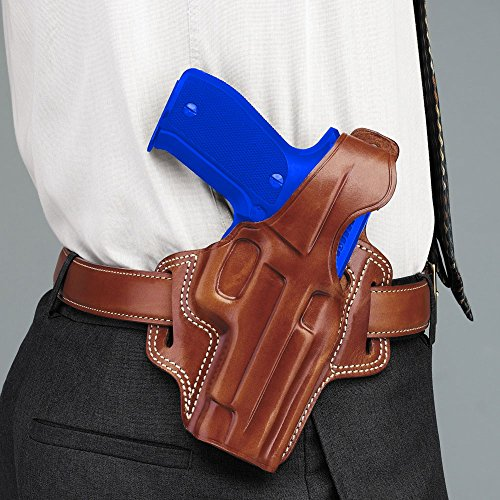 (Galco Fletch High Ride Belt Holster for 1911 3-Inch Colt, Kimber, para, Springfield (Tan, Right-Hand))