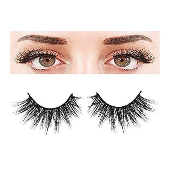 Cute Critters False Eyelashes, 3D Faux Mink Fake Eyelashes Handmade Dramatic Thick Crossed Cluster False Eyelashes Black