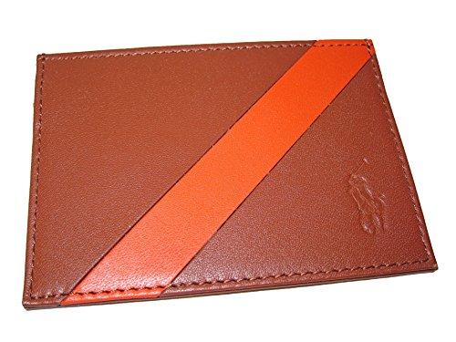 Polo Ralph Lauren Mens Banner Stripe Wallet Card Case Brown - Credit Holder Ralph Lauren Card