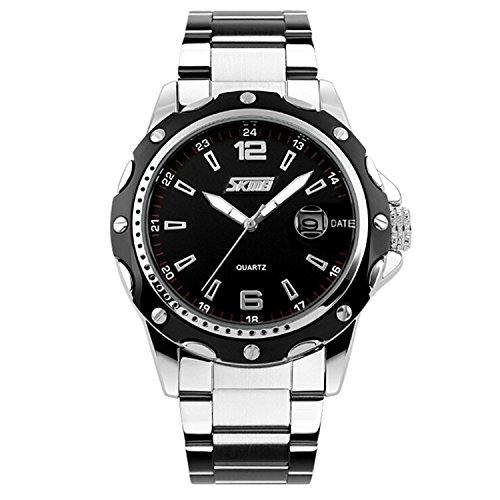 Mens-Stainless-Steel-Band-Analog-Quartz-Unique-Business-Casual-Waterproof-Dress-Wrist-Watch-Classic-Design-Calendar-Date-Window-Black