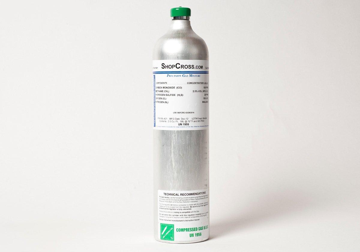 Gasco 58L-125-77 Precision Calibration Gas 77 ppm Nitric Oxide balance Nitrogen 58 Liter