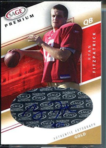 Ryan Fitzpatrick 2005 SAGE Premium Gold AUTO RC Rookie Card New York Jets #/50
