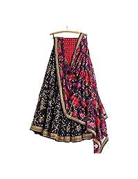 AMIT FASHIONS Exclusive Indian Designer Semi Stitch Lehenga Choli for Women's