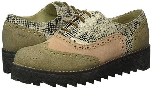 Cordones Marc Katy Para Shoes Beige Gris Mujer Derby Zapatos De R6OgFI6q1