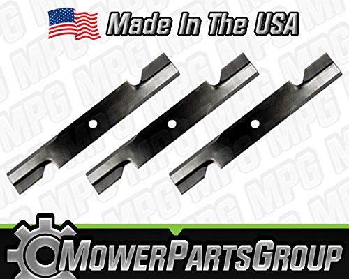 "MowerPartsGroup P143 (3) Hustler 48"" Cut Hi-Lift Blades Fit Hustler FasTrak Sport X-One 795757"