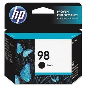 HP 98 Black Original Ink Cartridge (C9364WN) from Hewlett Packard