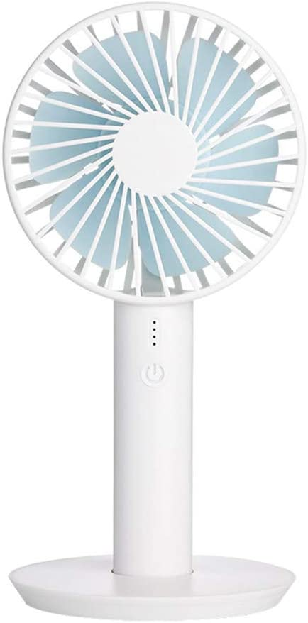 Pink Mini USB Rechargeable Hand-held Cooling Fan Meidexian888 Portable With Display Screen Cooling Fan