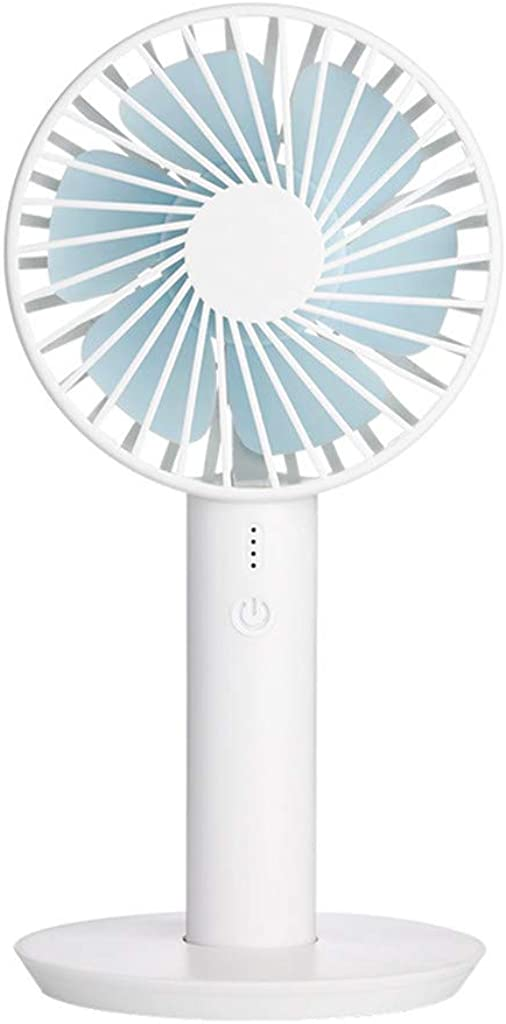 Handheld Mini USB Rechargeable Fan,Built-in Battery Portable Bluetooth Speaker Unique Special for Outdoor Room Travel
