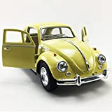 1967 Volkswagen VW Classic Beetle bug Yellow Kinsmart 1:32 Die-Cast Model,Toy,Car,Collectible,Collection