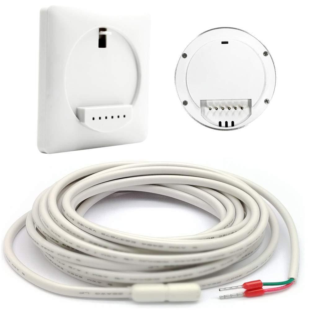 Fonctionne avec Google Home et Alexa Beok TGR87WIFI-EP Thermostats d/'ambiance Programmables Programmeur Thermostat Contr/ôleur Temp/érature de Chauffage /électrique Tactile WiFi Sonde de Plancher