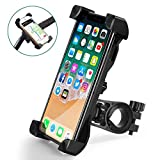 QMEET Bike Phone Mount 360°Rotation, Bike Phone Holder for iPhone Android GPS Other Devices Between 3.5 to 6.5 inches
