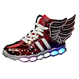 Best K-swiss Tennis Shoes For Girls - YSNJL USB Charging Light Up Shoes Sports LED Review