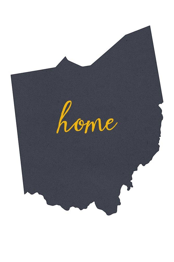 大割引 オハイオ州 – Art ホーム状態 18 – グレーonホワイト 12 12 x 18 Metal Sign LANT-55607-12x18M B013TXBL5C 12 x 18 Art Print 12 x 18 Art Print, 下條村:7ba2bc27 --- 4x4.lt