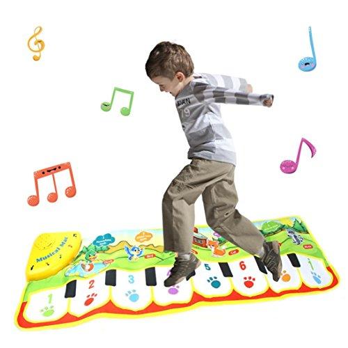 LiPing Keyboard Musical Music Singing Gym Mat Improved Volume Toddler Animal Music Floor Piano Waterproof Foam Cloth Mat Toys (35.4×10.6in)