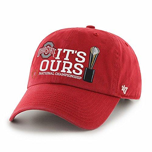 ストレンジャー歌手気付くOhio State Buckeyes Its Ours CFP 2014 National Champs Clean Upレッド調節可能なバックル帽子/キャップ