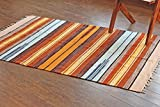 4 feet roman shades - Hotweave Hand-Woven/Hand-Made 4'x6' / 120x180 cm Multicolor Chenille Striped Area Rug, Style: 3389