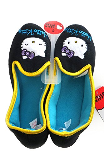 Comfortable Black ScarvesMe Kitty Plush Fleece Licensed Soft Warm Slipper Hello CqXwUxXB