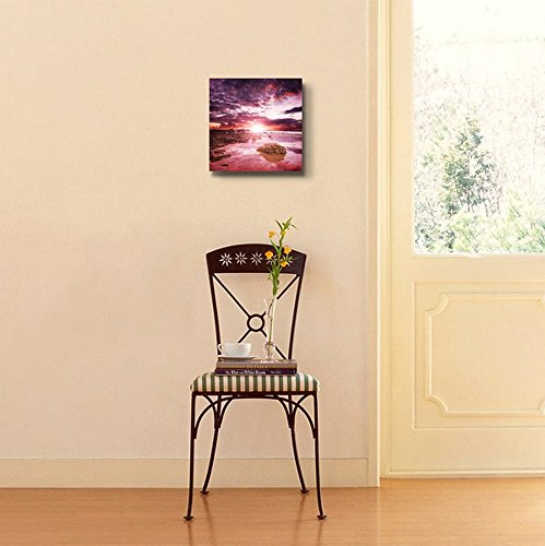 Beautiful Scenery Seascape Sunset Over The Coast Wall Decor
