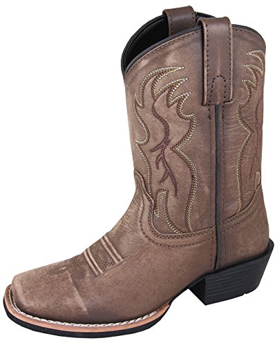Clothes Boots Western (Smoky Boys Vintage Brown Gallup Square Toe Western Boot)