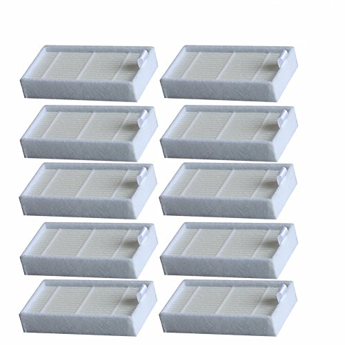 Robotic Air - Electropan 10pcs HEPA Filter Replacement for Ilife V3s V3s pro V5 V5s V5s Pro Robotic Vacuum Cleaner