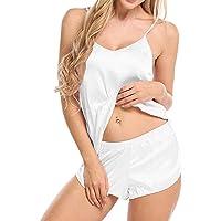Ropa de Dormir Sexy para Mujer Conjunto Cami y Shorts Conjunto de Pijama de Noche