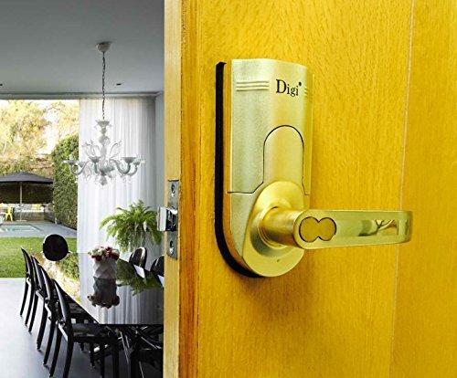 Digi Electronic Biometric Fingerprint + Keypad Password Door Lock Set 86 Intersected Gold (Right Hand Door) - Yale Door Latch