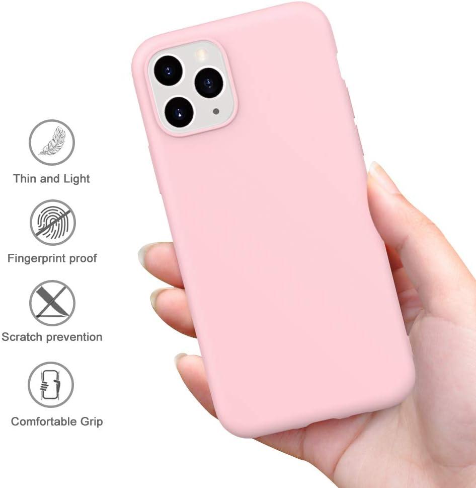 Peakally Funda iPhone 11 Pro MAX, Carcasa Rosa TPU Suave Funda ...