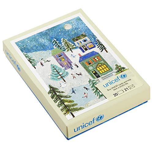 (Hallmark UNICEF Christmas Boxed Cards, Holiday Scene (20 Cards and 21 Envelopes))