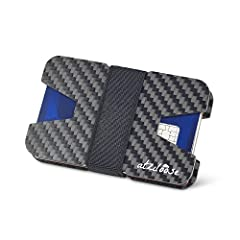 WHY YOU NEED THIS WALLET BY ATZILOOSE  Fat, overstuffed wallets are so not cool! This super slim, ultra hip, minimalist wallet will keep your credit cards and cash secure and accessible without ruining your pockets or jeans. Constructed of carbon fi...