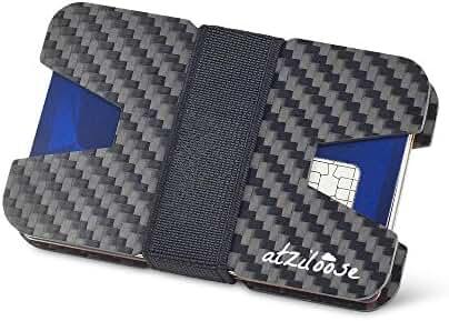 Slim Wallets for Men Carbon Fiber RFID Blocking Wallet Credit Card Holder Mens Gifts Ideas + Gift Box Gifts for dad