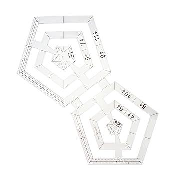homyl 1 piece acrylic twin ruler double pentagon ruler drafting