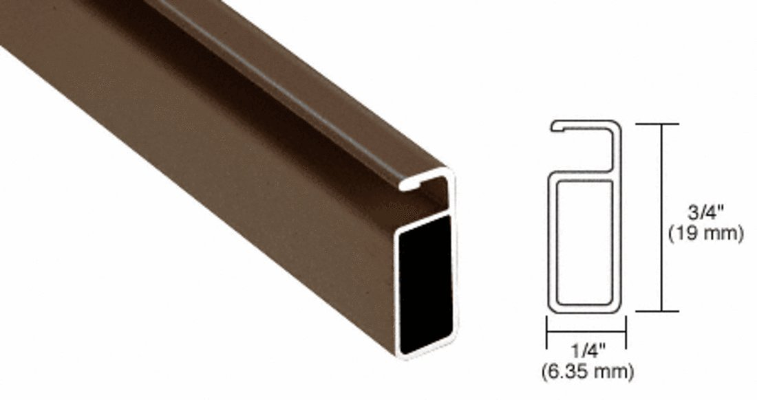 CRL Bronze 3/4'' x 1/4'' Extruded Screen Frame by CR Laurence