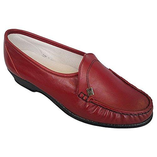 Pelle Slip Rosso Donna In on Scarpe Ida P14q7nw