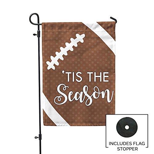 Second East Tis the Season Football Garden Flag Outdoor Patio Seasonal Holiday Fabric 12