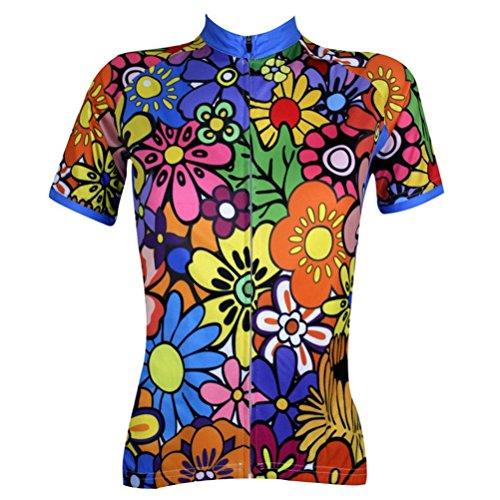 Uriah Women's Cycling Jersey Short Sleeve Flower World Size S(CN)