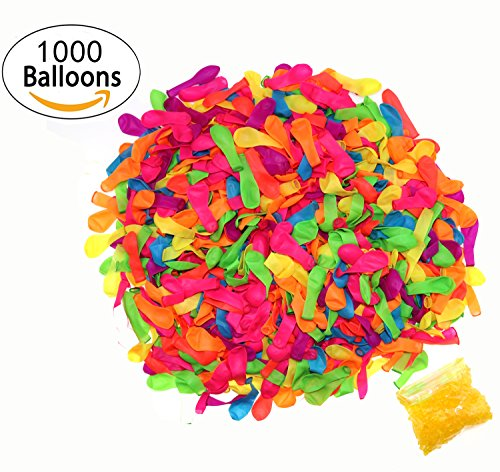 ZZLAY Water Balloons Refill Quick & Easy Kit, Refill Your Old Straws In a Jiffy - 1000 Balloons + 1000 Rubber Bands + 5 Quick & Easy Refill Tools, Great for Kids Outdoor Sports, Straws Not Included