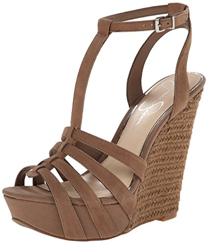 Jessica Simpson Women's Bristol Wedge Sandal, Totally Taupe, 8 M US