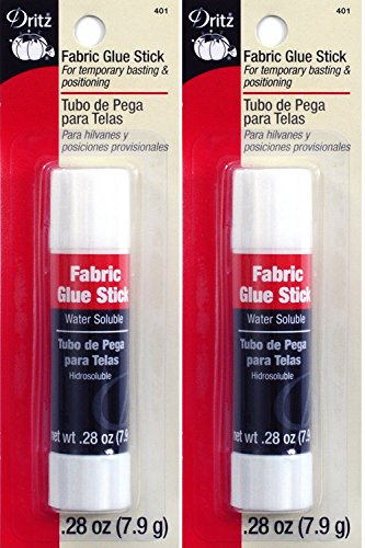 (Dritz 401 Fabric Sewing and Craft Glue Stick, 0.28-Ounce (2 Pack))