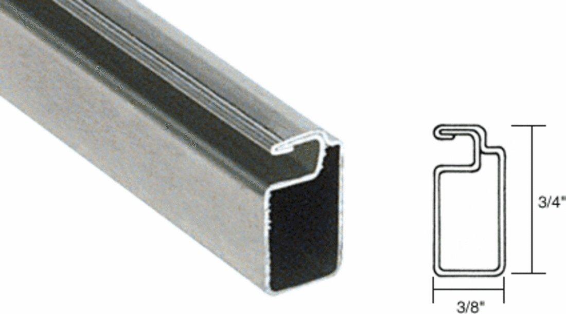 CRL Mill Finish 3/4'' x 3/8'' Roll Formed Aluminum Screen Frame - 12 ft long