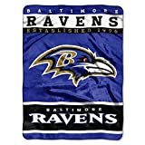 Baltimore Ravens NFL Royal Plush Raschel (12th Man Series) (60in x 80in)