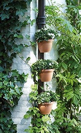 Jardín Decoraciones al Aire Libre M y F 3 Piezas/Lote único canalón Downspout Jardín Maceta Drenaje tubería Planta macetas tinas Drenaje tubería jardín: Amazon.es: Amazon.es