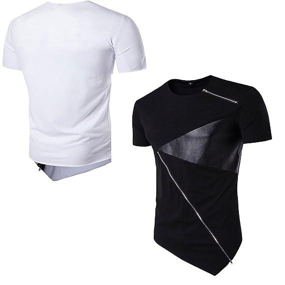 Camiseta para Hombre, ❤️Xinan Camiseta de Manga Corta de algodón ...