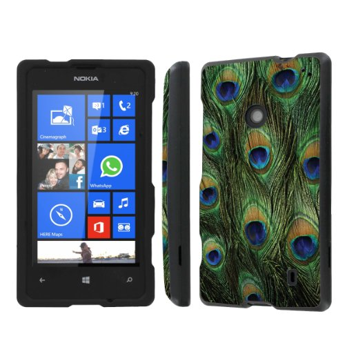 NakedShield Nokia Lumia 635 (Peacock Feather) Total Hard Armor Protection LifeStyle Phone Case