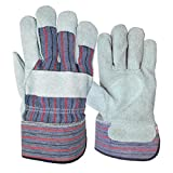 Blue Hawk 3-Pack Large Mens Leather Palm Work Gloves