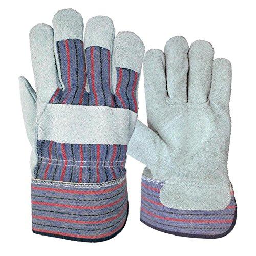 Blue Hawk 3-Pack Large Mens Leather Palm Work Gloves