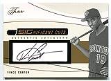 Vince Carter #16/200 Auto (Baseball Card) 2004 Flair SIGnificant Cuts #SIG-VC Toronto Blue Jays Raptors