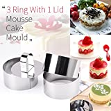Rings Molds with Press Set, Guowall Cake Molds