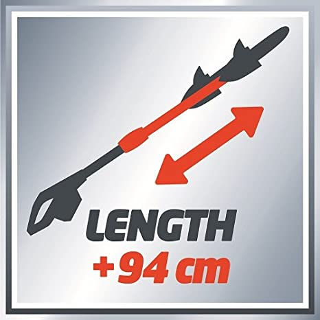 18 V Einhell GE-HH 18 Li T kit Power X-Change Cordless High Reach Hedge Trimmer with 40 cm Cutting Width Red
