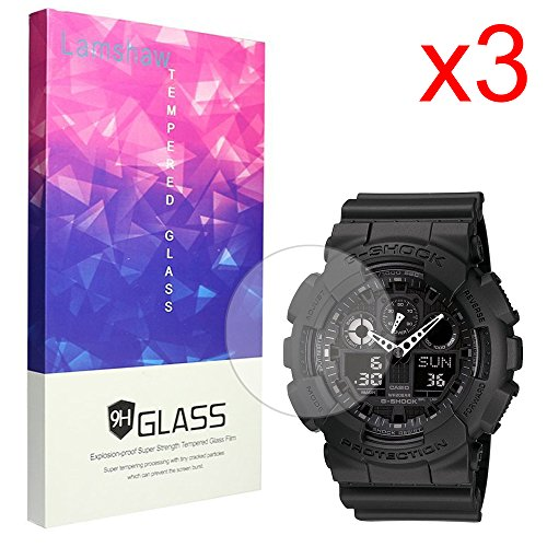 Lamshaw Screen Protector for Casio G-SHOCK The GA 100 Smartwatch (3 pack) by Lamshaw